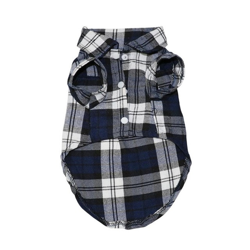 Pet Puppy Dog Clothes Summer Plaid Dog Shirt Coats Jackets Cat Grid Costumes for Small Medium Dogs Yorkies Chihuahua Clothes7