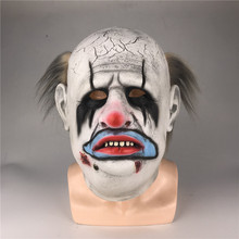 Clown-Mask Horror Halloween Daylight Cosplay White Dead Party-Prop Latex Scary Punk by