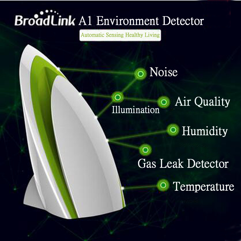 Broadlink A1 E-Air switch Smart Home Automation Modules Air Quality Detector Filter Testing Air Humidity temperature switch EU<br>