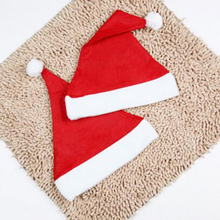 Hot Sale Christmas Party Santa Hat Red White Color Cap Christmas Hat For Santa Claus Costume Christmas Decoration Adult Child