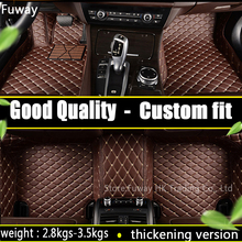 Custom car floor mats for  KIA K2/3/4/5 Kia Cerato Sportage Optima Maxima carnival Rio ceed Foot Carpets Rugs car-styling