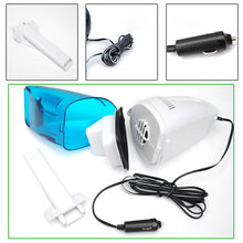 12V Mini Handheld Portable Car Vacuum Cleaner Hoover Wet Dry Bagless Carvac Van(China)