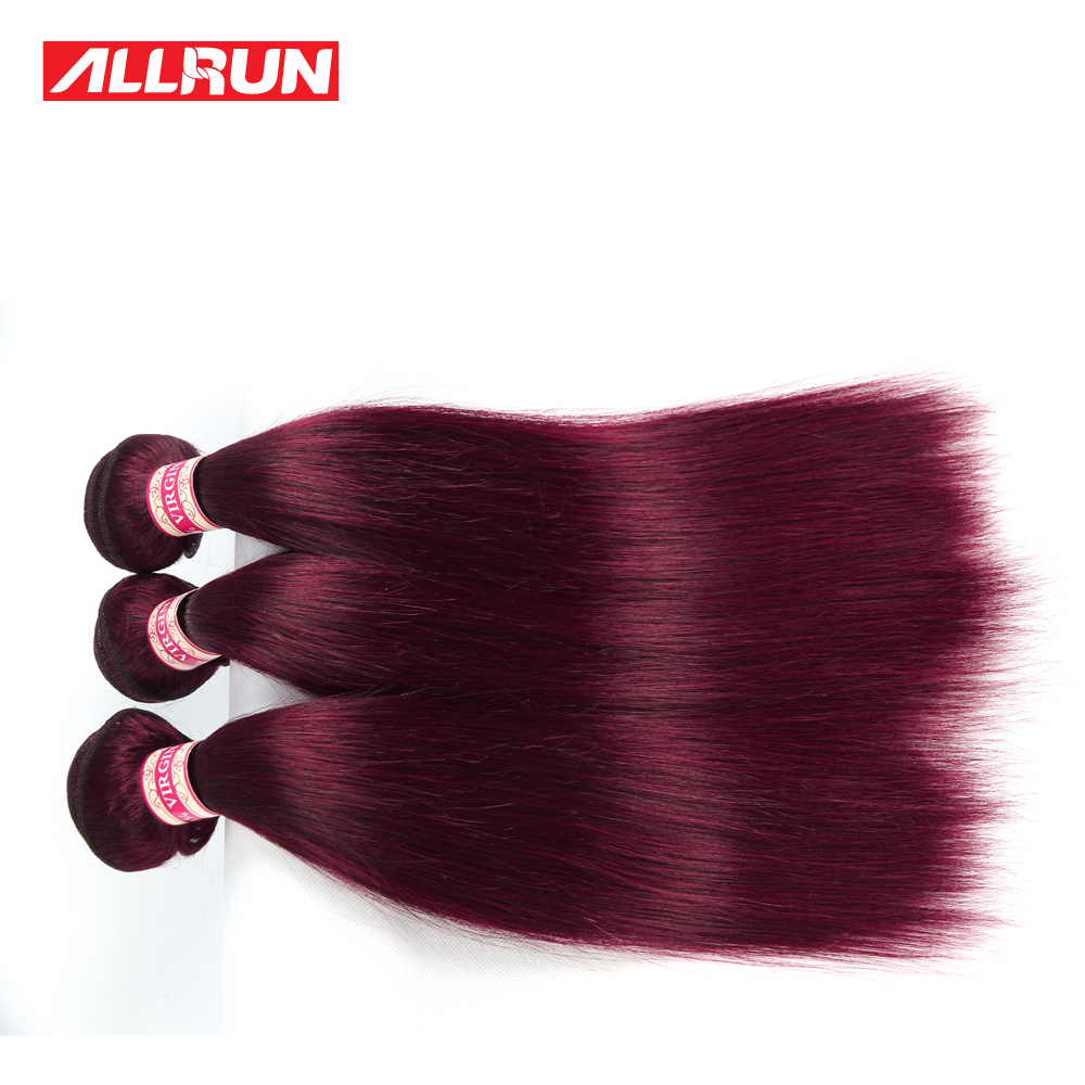 Burgundy Hair Extensions 99j Brazilian Straight Virgin Hair 3Pcs Unprocessed Brazilian Virgin Hair Straight Colored Human Hair<br><br>Aliexpress