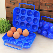 1pc Plastic 2/4/6/12 Grids Portable Camping Picnic Barbecue Outdoor Egg Box Practical Kitchen Outdoor Egg Storage Boxes(China)
