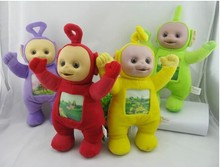 "4Pcs/Set 33cm Teletubby Plush Toy Doll Teletubbies 10"" Laa Tinky Winky Plush toy Free Shipping"