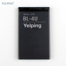Yelping BL-4U Mobile Phone Battery For Nokia E66 C5-03 301 5530 5730 E75 5250 Replacement Battery Nokia BL-4U BL4U 1110mAh