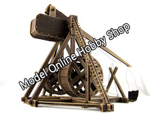 Free shipping wooden scale model the ancient empire battlefield series catapult ancient weapon assembly wood toys christmas gift