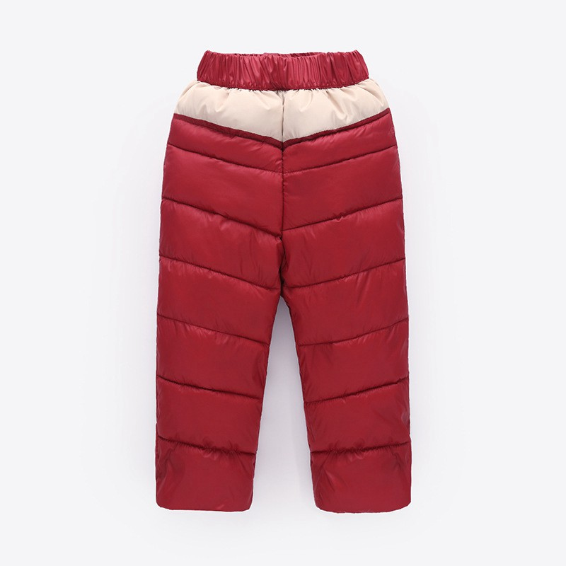 COOTELILI 80-130cm Warm Winter Boys Pants Trousers For Kids Elastic Waist Cotton Thicken Snowsuit Baby Pants Boys Clothes (12)