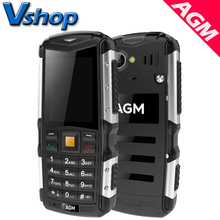 Original AGM M1 3G Mobile Phones IP68 Waterproof dustproof shockproof Outdoor Elders Cell phone Dual SIM 2.0 inch Bluetooth
