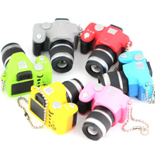 SLR Camera Model Keychain Creative Fashion Accessories Colorful Kaca Sound LED Light  Flash Keyring Key Chain Ring Keyfob