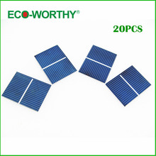 ECO-WORTHY 20pcs 52x38 Poly Crystalline Solar Cells High Effeciency Poly Solar Cell Solar Generators