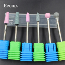 ERUIKA 6PC Ceramic Stone Nail Drill Bits Electric Mills Cutter For Manicure Machine Nail Drill Accessories Pedicure Nail Tools(China)