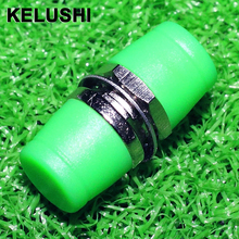 KELUSHI 10pcs  FC AP C Fiber Coupler, FC-FC Fiber Optic Connectors/ Adapter ,FC Green Hat Adapter Flange for Telecommunication