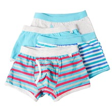 4 Pcs/lot Kids Underwear Colorful Teenager Underwear Soft Organic Cotton Boys Shorts Panties Baby Boy Boxer Children's 2-16y(China)