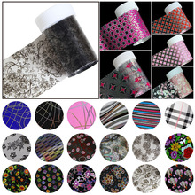 100*4cm Multicolor Gradient Green Marble Pattern Brand New Transfer Nail Foil Decal Stickers For Nail Art Decorations A40