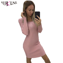 Buy HIJKLNL 2017 Autumn Winter Women Long Sleeve Knitted Sweater Dress Ladies Warm Skinny Bodycon Pencil Dress Work Dress NA359 for $14.85 in AliExpress store