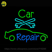 Car Repair Neon Sign Neon Light Sign Handmade Neon Bulbs Recreation Room Glass Tube Lamp Display Iconic 31x24(China)