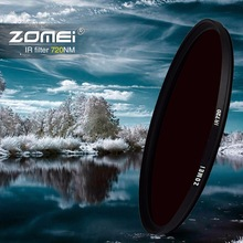 Zomei Infrared IR filter 680nm 720nm 760nm 850nm 950nm IR filter 37mm 49mm 52mm 58mm 67mm 72mm 82mm for SLR DSLR camera lens(China)