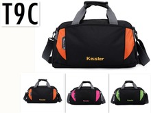 keisler HOT Nylon Material Portable Bags Big Gym Bag For Women and Men 23*40*22cm 7 colors New Style travel bag shoulder bag