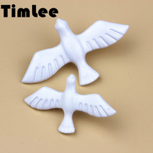 Timlee X010 New Vintage White Peace Dove Birds Brooch Pins,Fashion Jewelry Wholesale