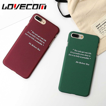 LOVECOM Fashion Letter Dull Polish Hard PC Back Cover For iPhone 6 6S 6Plus Positive Mobile Phone Cases Coque(China)