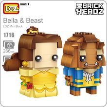 LOZ Mini Blocks Girl Bella POP Bobble Head Figure Cute Dolls Toys Hobbies Couples Gift DIY Fun Assembly Model Action Figure 1716