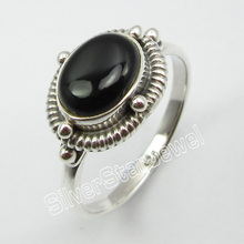 Silver BLACK ONYX Inexpensive Ring Size 8.75 ! Online Jewelry Store
