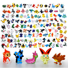 144 pcs HOT New Cute Poke Go Mon Go Pikachu figures Mini Monster action figure toys lot 2-3cm Birthday Gifts