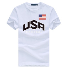 Usa Basketballer Men's Brand Clothing Summer Cotton Black T-Shirts 2016 Hiphop O Neck Tee Shirt Homme Fashion Fitness Casual Tee