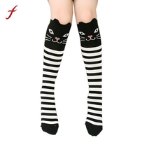 Children Kids Girl Animal Print Pattern Knee High Socks Autumn Winter Keep Warm Cute socks Hight Quality Casual Comfortable sock(China)