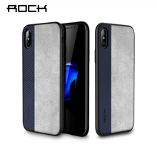 Rock Slim Case for iPhone X Cover PU Leather Phone Bag Case For iPhone X Coque Full Protective Phone Shell Back Capa(China)