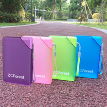 430ml Shaker Sport Bottle Plastic Portable Memo Notebook Paper Water Bottles Creative Travel Sports Flat Kettle ZCForest(China)
