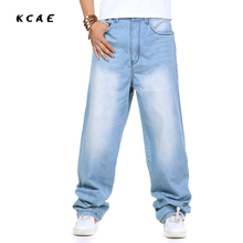 Men's Baggy Jeans Hip Hop Designer Skateboard Pants loose Style Plus Size 30-46 HipHop Rap Jeans Boy