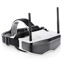 GS909 5.8G 32CH 3D Video FPV Goggles Glasses with Double Transmitting Lens 2D/3D Free Switching(China)