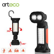 Battery Portable Camping Light Flashlight for Working Hunting Fishing Emergency 360 Degree Rotating Hanging Hook & Magnetic Base