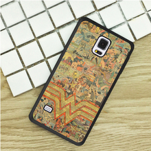 Wonder woman logo comic TPU Phone Cases For Samsung Galaxy S3 S4 S5 mini S6 S7 Edge S8 plus Note 2 3 4 5 Cover Soft(China)
