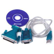 USB 2.0 to 9/25-Pin Serial RS232 Cable Cord DB9/DB25 Adapter Computer PC Desktop