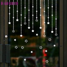 KAKUDER Window Stickers Removable Merry Christmas Star Wall Sticker Decal Mural Home Window Decor U6923(China)