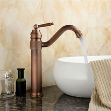 Europe Classic Style Bathroom Basin Faucet Antique Copper Finish Mixer Tap with Ceramic Mixer Tap Sink Faucet
