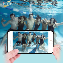 KISSCASE Waterproof Box For iPhone 5 5S SE 6 6S 6 Plus 6S Plus 7 7 Plus Clear Touch Screen Phone Case Full Coverage Diving Cover