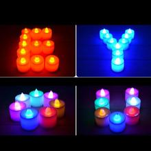 Multicolors Home Decor LED Candles Lamp LED Plastic Candle Light Fliker Flameless for Wedding Party Holiday