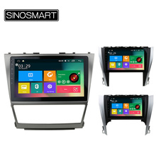 SINOSMART Support 4G 10.1'' Quad Core RAM 2G/1G Android 5.1 Car Radio GPS Navigation Player for Toyota Camry 2006-2017