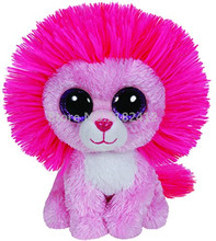 Beanie Boos Cute Stuffed Animal Big Eyes Fluffy Pink Lion Plush Animals Toy 6'' 15cm Kids Toys for Children Girls Gifts