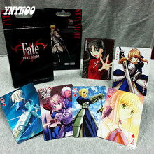 YNYNOO 54Pcs Anime Fate Stay Night Altria Pendragon Saber Paper Cards Action Figures Game Collectible Poker Cards Toy For kids