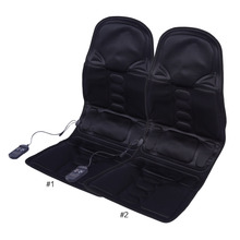 Auto Car Home Office Full-Body Back Neck Lumbar Electric Massage Chair Relaxation Pad Seat Heat Vibrating Mattress Therapy Bed