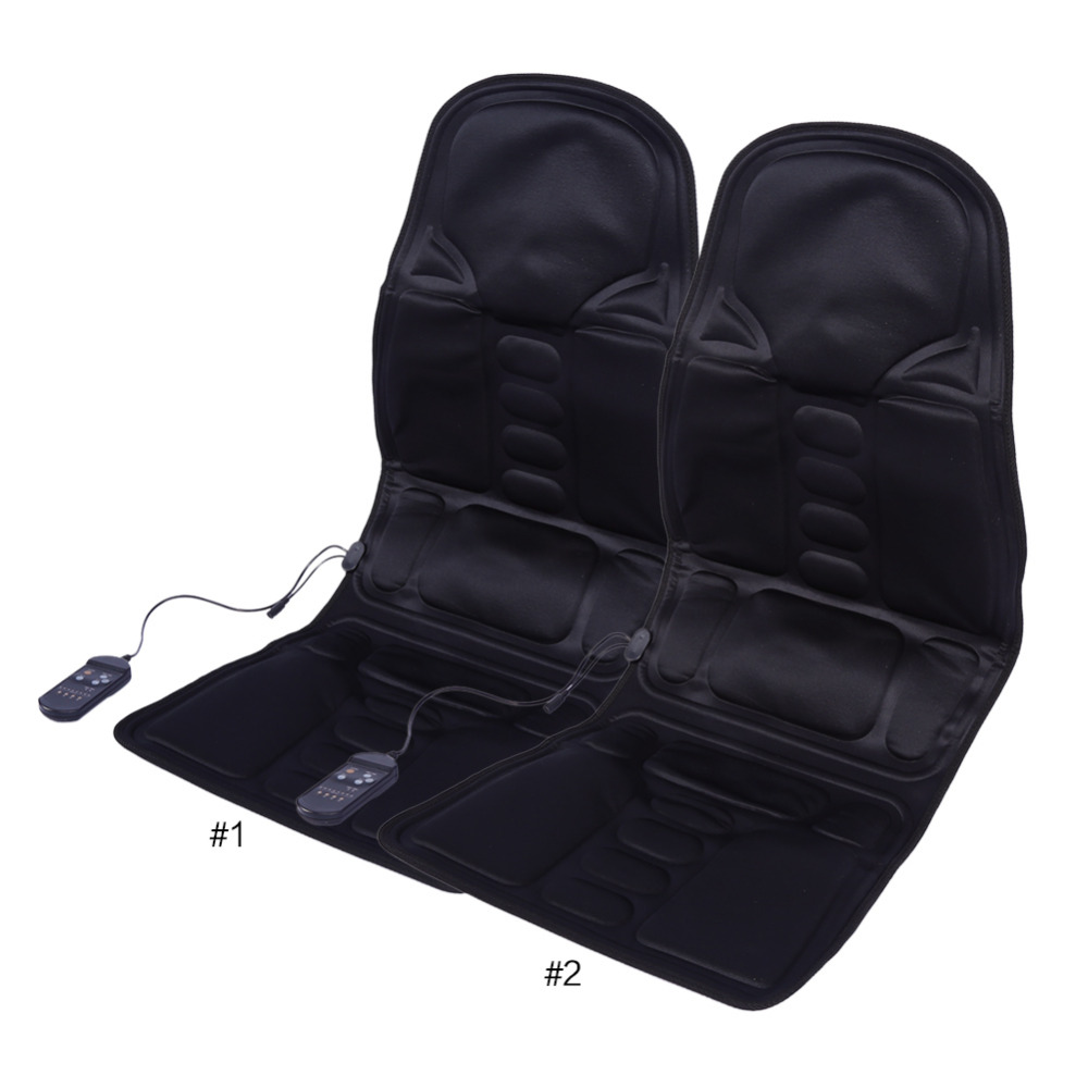 Auto Car Home Office Full-Body Back Neck Lumbar Electric Massage Chair Relaxation Pad Seat Heat Vibrating Mattress Therapy Bed(China (Mainland))