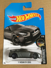 New Arrivals 2018 8a Hot Wheels 1:64 black 17th nissan gtr-r r35 Car Models Collection Kids Toys Vehicle For Children(China)