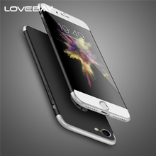 LOVEBAY Phone Case For iPhone 7 6 6s Plus Luxury 3 in 1 360 Full Coverage Protective Hard Matte PC Back Cover Case For iPhone 7(China)