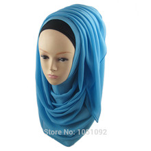 1pc 2017 Most Popular Solid Plain Chiffon Scarves Shawl Hijab Scarf Wrap Pashmina Accessory,can choose 47 colors 1-15