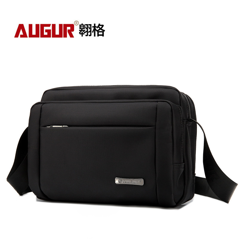 AUGUR Male Vintage Executive Briefcase Bags for Documents Men Small Casual Business Messenger Bag Mens Shoulder Crossbody Bags <br>